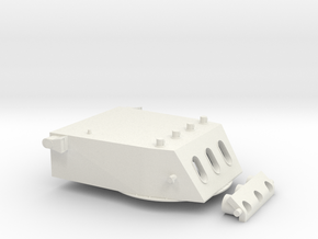 "1/72 Baltimore class 8""/55 cal. Turret (WWII) in White Natural Versatile Plastic"