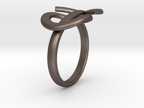 Male Symbol Ring in Polished Bronzed Silver Steel