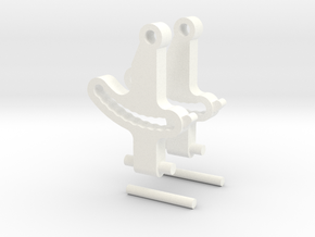 Krono's Replacement Ankle Set in White Processed Versatile Plastic