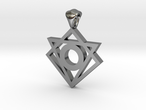 Iconic Symbol Pendant in Polished Silver