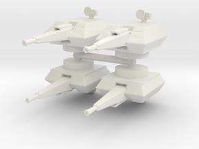 MANTIS AA Turret (x4) 1/144 in White Natural Versatile Plastic