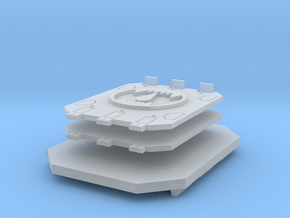 Toothed Mouth Jericho Tank doors set #2 in Smooth Fine Detail Plastic