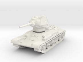 T-34-76 1942 fact. 183 early 1/87 in White Natural Versatile Plastic