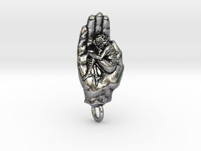 Safe & Sound Charm in Antique Silver
