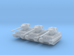 Tiger II H (x3) 1/400 in Smooth Fine Detail Plastic