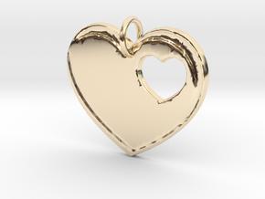 Heart Pendant- Makom Jewelry in 14k Gold Plated Brass
