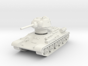 T-34-76 1943 fact. 183 early 1/87 in White Natural Versatile Plastic