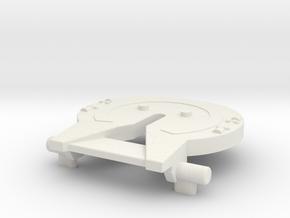 M.a.s.k. - Rhino - Sattelplatte in White Natural Versatile Plastic