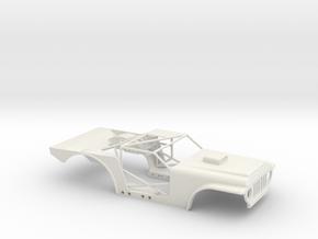 SCX24 Drag Jeep in White Natural Versatile Plastic