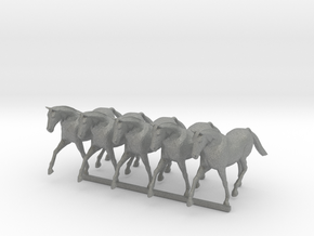 O Scale Trotting Horses in Gray PA12