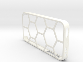 iPhone 5/5s Case - Hexelion in White Strong & Flexible Polished