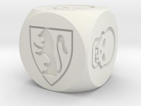 HeroQuest Die (14mm) in White Natural Versatile Plastic