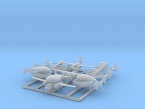 C-1, E-1 & S-2 w/Gear x8 (FUD) in Smooth Fine Detail Plastic: 1:700