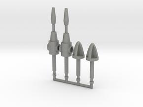 G1 Seeker Missiles in Gray PA12: Medium