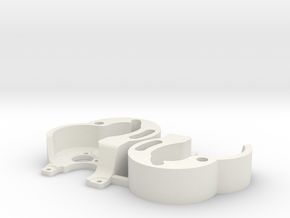 SCX24 2FM RC Surpass motor mounts x2 in White Natural Versatile Plastic