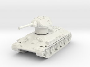 T-34-76 1942 fact. 112 early 1/72 in White Natural Versatile Plastic