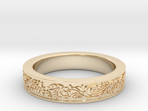 Celtic Wedding Ring 11 in 14K Yellow Gold