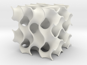 Simple Gyroid in White Natural Versatile Plastic