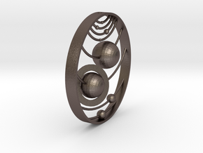 C 2_17 in Polished Bronzed-Silver Steel