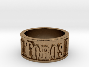 Toros Band (Size 10) in Natural Brass