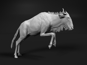 Blue Wildebeest 1:64 Leaping Female 2 in Smooth Fine Detail Plastic