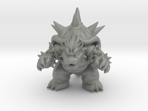 Fury Bowser miniature model fantasy games rpg dnd in Gray PA12