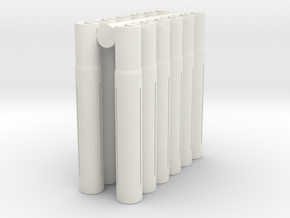 "Expandable ""5.96mm"" Barrel Lap (12 pack) in White Natural Versatile Plastic"