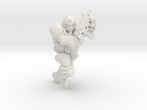 Combat Monk in White Natural Versatile Plastic