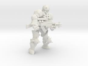 Combat Monk in White Natural Versatile Plastic