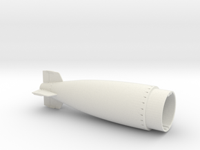 Torpedo mk8 16th tail in White Natural Versatile Plastic