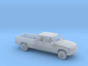 1/160 1994-97 Chevrolet S 10 Crew Cab Long Bed Kit in Smooth Fine Detail Plastic