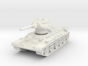 T-34-76 1943 fact. 112 early 1/76 in White Natural Versatile Plastic