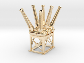 Sulfur Hexafluoride SF6 Electric Circuit Breaker in 14k Gold Plated Brass: 1:48 - O