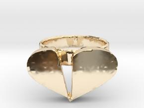 Broken Heart Ring in 14K Yellow Gold