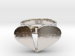 Broken Heart Ring in Platinum