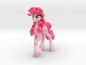 MLP Pinkie Pie (Classic, 15.4 cm / 6 in tall) in Glossy Full Color Sandstone
