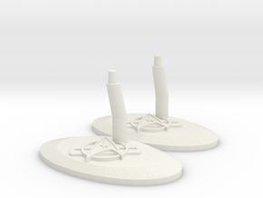 Federation Stand V in White Natural Versatile Plastic