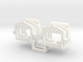2 x Napoleonic Saddle in White Processed Versatile Plastic