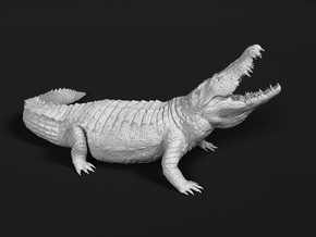 Nile Crocodile 1:87 Lifted head with mouth open in Smooth Fine Detail Plastic