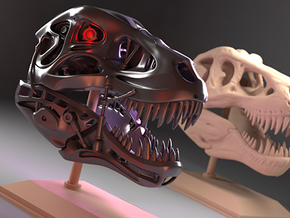 Terminator REX (small scale) in Polished Metallic Plastic