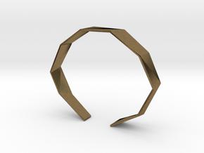 Faceted Bracelet Size L in Natural Bronze