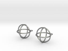 Orbit Earrings in Natural Silver