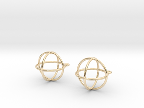 Orbit Earrings in 14K Yellow Gold