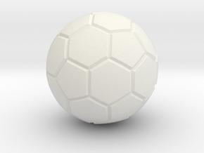 FooseBall in White Natural Versatile Plastic