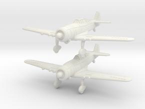 1/200 Fokker D.XXI Finland (x2) in White Natural Versatile Plastic