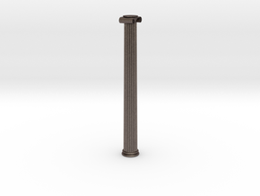 Ionic Column in Polished Bronzed-Silver Steel: Extra Small