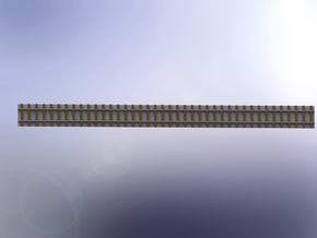 Straight Track / Gerades Gleis 1/285 6mm in Smooth Fine Detail Plastic