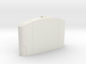 N64 Cartridge Case  in White Strong & Flexible