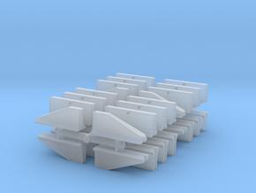 Jersey Barrier short set (x32) 1/285 in Smooth Fine Detail Plastic