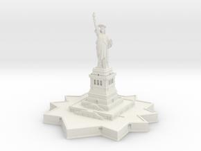 Statue of Liberty 1/1000 in White Natural Versatile Plastic